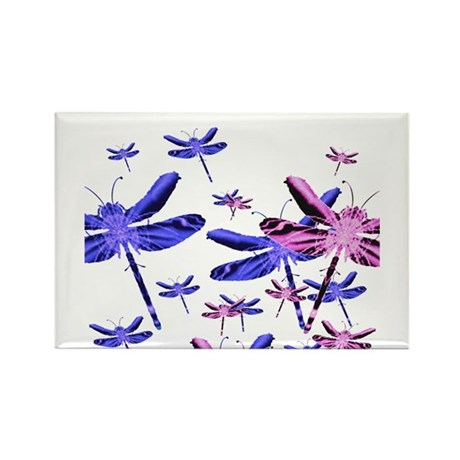 Dragonflies Rectangle Magnet (10 pack)