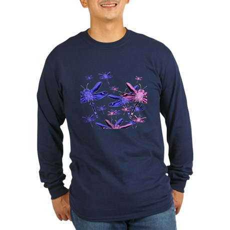 Dragonflies Long Sleeve Dark T-Shirt