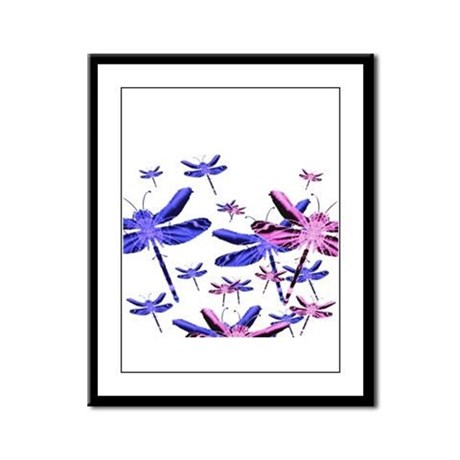 Dragonflies Framed Panel Print