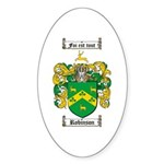Robinson Coat of Arms Oval Sticker