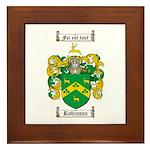 Robinson Coat of Arms Framed Tile