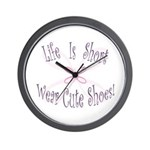Wear Cute Shoes Wall Clock
