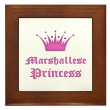 Marshallese Princess Framed Tile