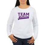 Team Hillary Purple Women's Long Sleeve T-Shirt
