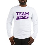 Team Hillary Purple Long Sleeve T-Shirt