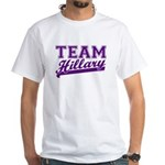 Team Hillary Purple White T-Shirt