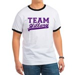 Team Hillary Purple Ringer T