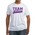 Team Hillary Purple Fitted T-Shirt