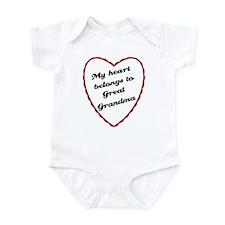My Heart Belongs to Great Grandma Infant Bodysuit