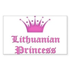 Lithuanian Princess Rectangle Decal