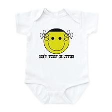 Don't Worry Be Jewish Infant Bodysuit