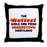 Hot Girls: Hagerstown, MD Throw Pillow