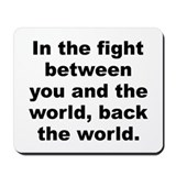 Frank zappa quotation Mousepad