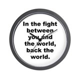 Frank zappa quotation Wall Clock