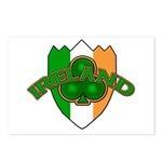 Ireland Badge with Shamrock Postcards (Package of
