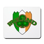 Ireland Badge with Shamrock Mousepad