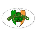 Ireland Badge with Shamrock Oval Sticker