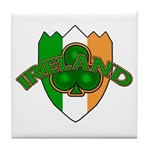 Ireland Badge with Shamrock Tile Coaster