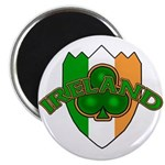 Ireland Badge with Shamrock Magnet
