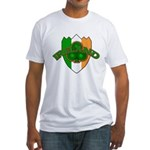 Ireland Badge with Shamrock Fitted T-Shirt