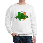 Ireland Badge with Shamrock Sweatshirt