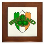 Ireland Badge with Shamrock Framed Tile