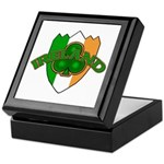 Ireland Badge with Shamrock Keepsake Box
