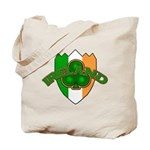 Ireland Badge with Shamrock Tote Bag