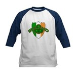 Ireland Badge with Shamrock Kids Baseball Jersey