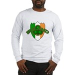 Ireland Badge with Shamrock Long Sleeve T-Shirt