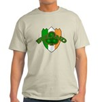 Ireland Badge with Shamrock Light T-Shirt