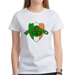 Ireland Badge with Shamrock Women's T-Shirt