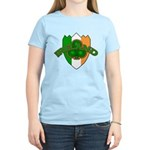 Ireland Badge with Shamrock Women's Light T-Shirt