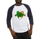 Ireland Badge with Shamrock Baseball Jersey