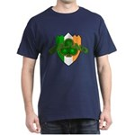 Ireland Badge with Shamrock Dark T-Shirt