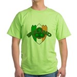 Ireland Badge with Shamrock Green T-Shirt