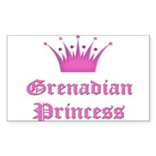 Grenadian Princess Rectangle Decal