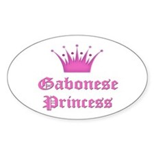 Gabonese Princess Oval Decal
