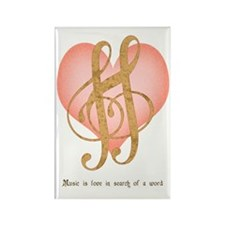 Music Lover Rectangle Magnet