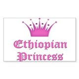 Ethiopian Princess Rectangle Decal
