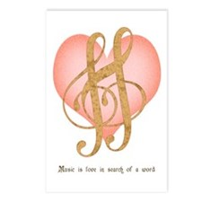 Music Lover Postcards (Package of 8)