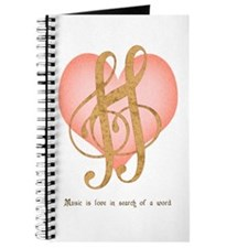 Music Lover White Journal