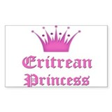 Eritrean Princess Rectangle Decal