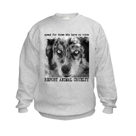 Report Animal Cruelty Dog Kids Sweatshirt