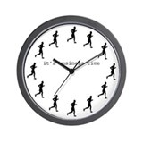 It's Business Time Running Wall Clock