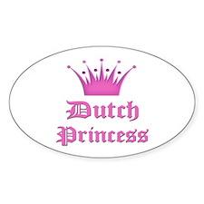 Dutch Princess Oval Stickers