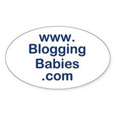 Blogging Babies Oval Decal