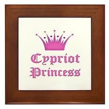 Cypriot Princess Framed Tile
