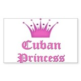 Cuban Princess Rectangle Decal