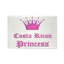 Costa Rican Princess Rectangle Magnet